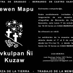Estimado compañer@s, Están cordialmente invitados a la inaguración de la muestra de Xilografías de Bernardo de Castro Saavedra, este lunes 1ro de octubre a las 19.30 hrs. en Casa Memoria. Se ofrecerá un rokiñ  La exhibicion de la muestra estará abierta desde el 1ro al 06 de octubre de 10h a 13h y de 15h a 19h en Casa Memoria. Dirección: Av. José Domingo Cañas 1367- Ñuñoa Teléfono 4191278 josedomingocanas1367@gmail.com